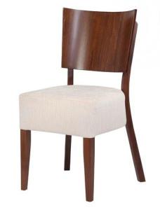 Lena tygbeklädd stol med hel trärygg