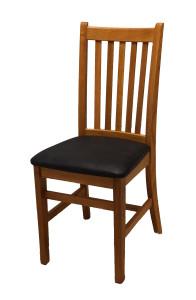 Rustik trästol med lädersits för restaurang och café